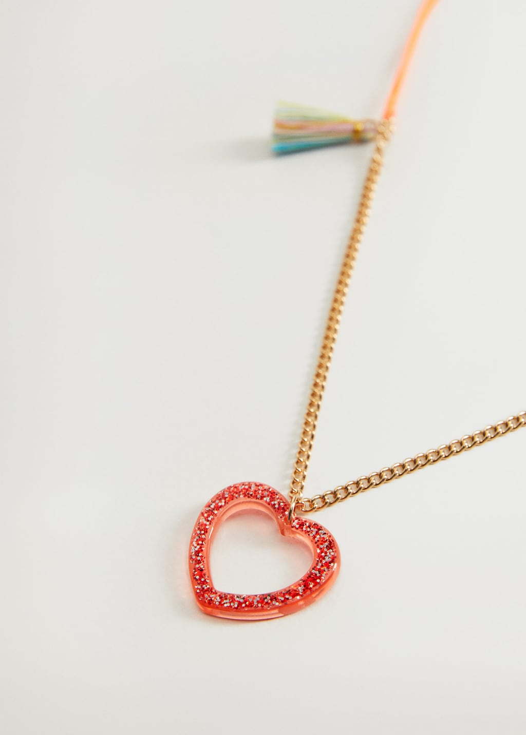 Mango Heart Pendant Necklace