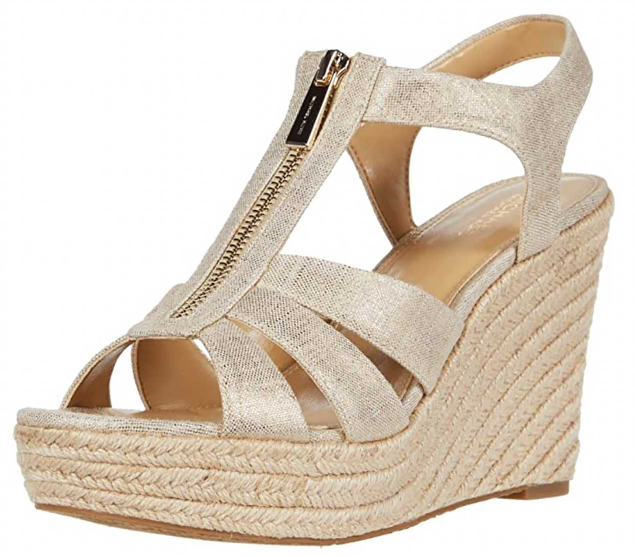 Michael Kors Berkley Wedge Pale Gold