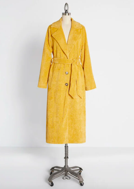 ModCloth Into the Fall Groove Trench Coat