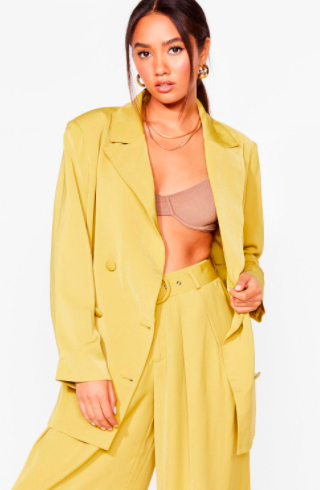 Nasty Gal Business as Usual Petite Oversized Blazer