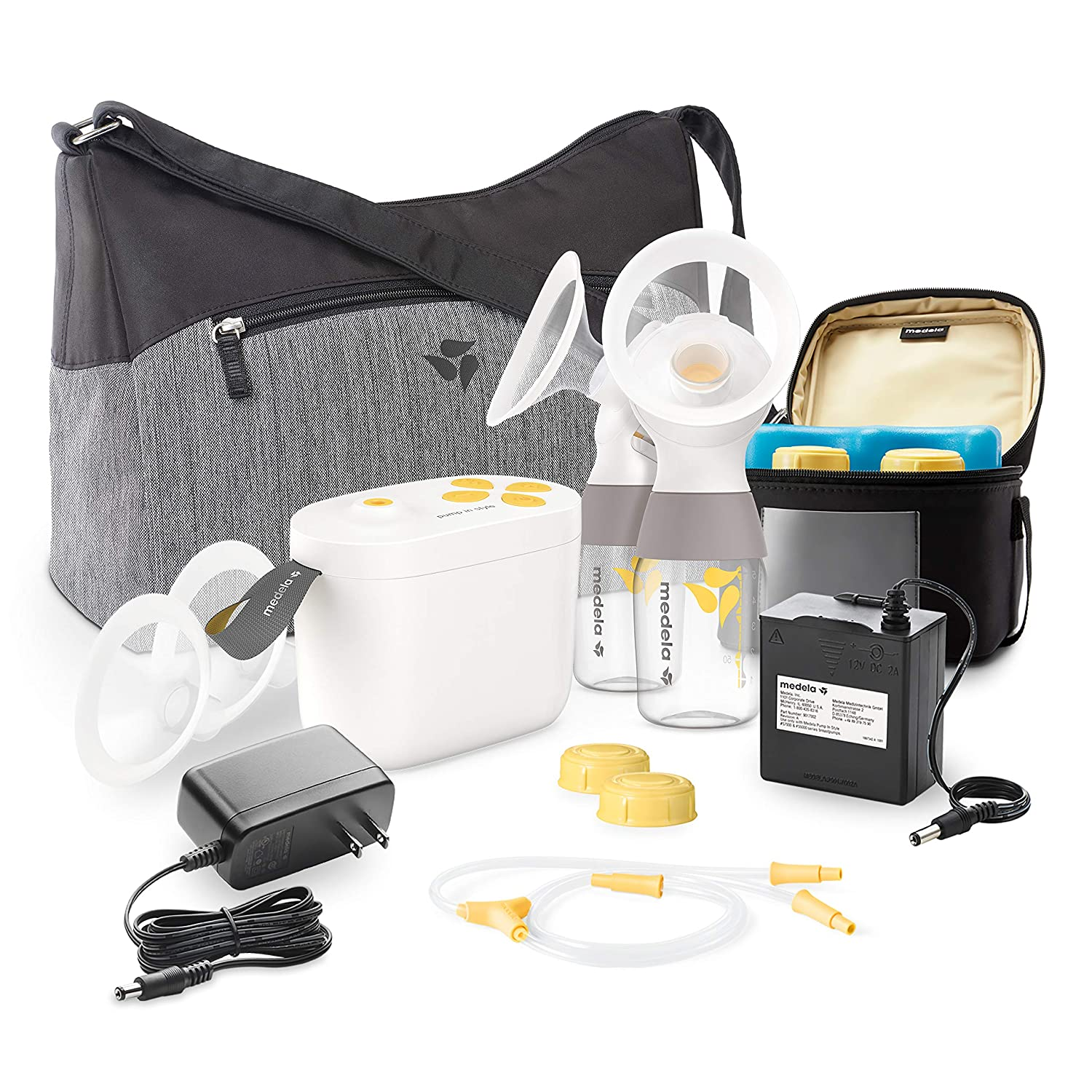 New Medela MaxFlow, Electric Breast Pump Closed System, Portable Breastpump