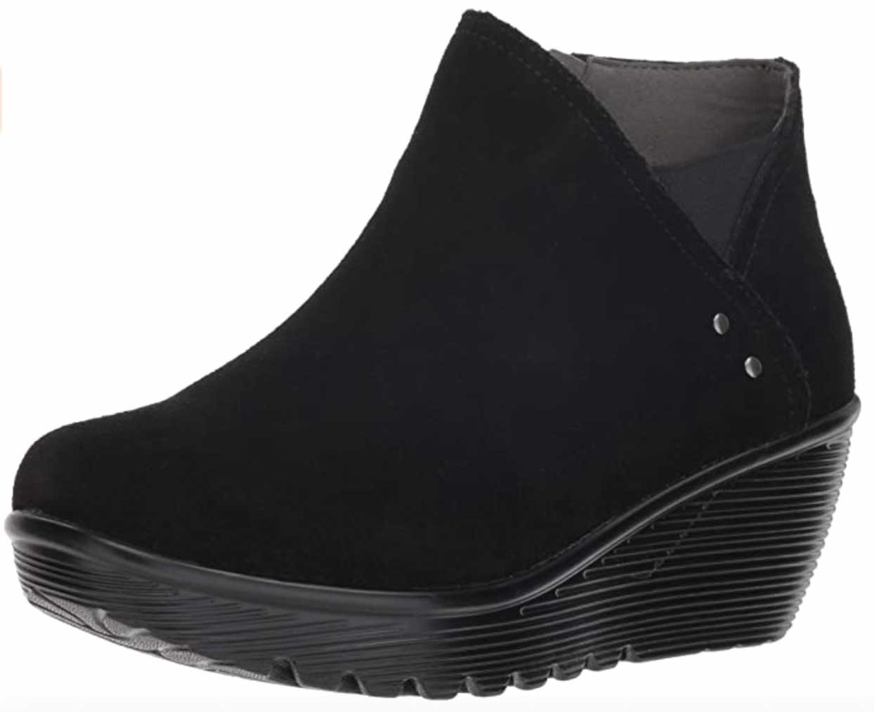 Skechers Parallel Suede Wedge Ankle Bootie