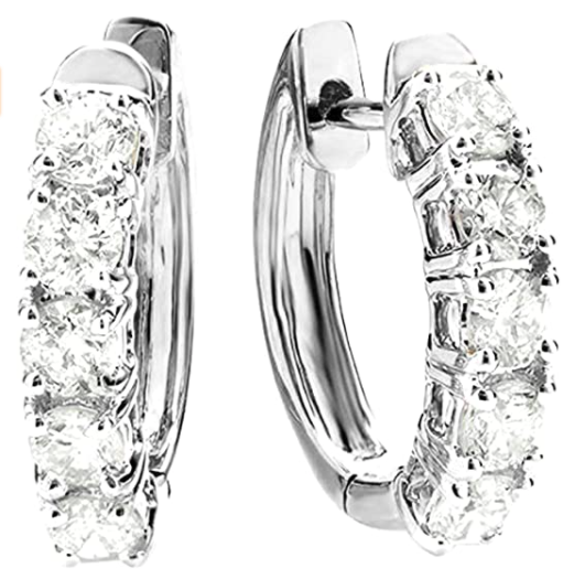 1 Carat Huggies Hoop Diamond Earrings Houston Diamond District