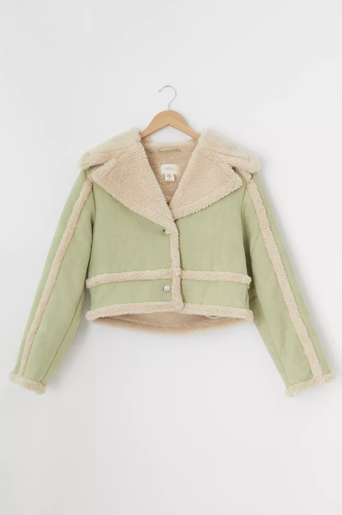 Urban Outfitters Chloe Faux Shearling Cropped Jacket