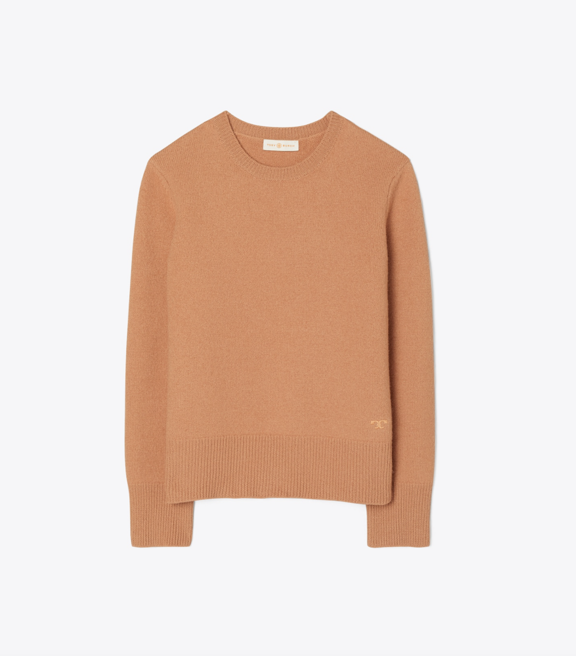 Tory Burch Felted Merino Wool Crewneck Sweater