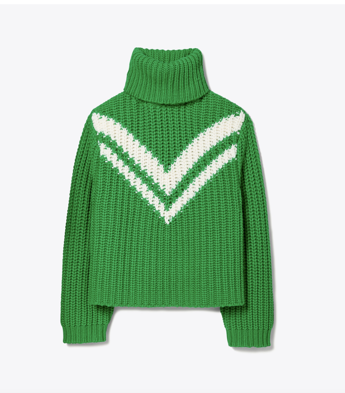 Tory Burch Merino Chevron Turtleneck Sweater