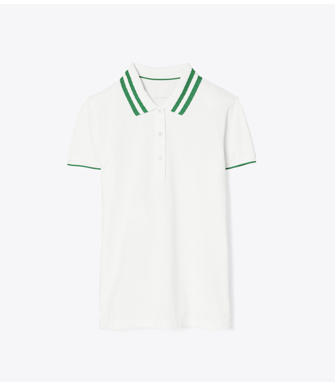Tory Burch Performance Piqué Pleated-Collar Polo
