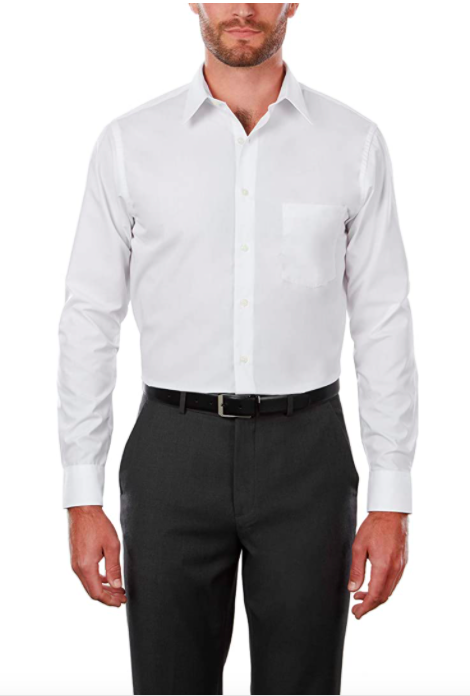 Van Heusen Regular Fit Dress Poplin Shirt Solid Men's