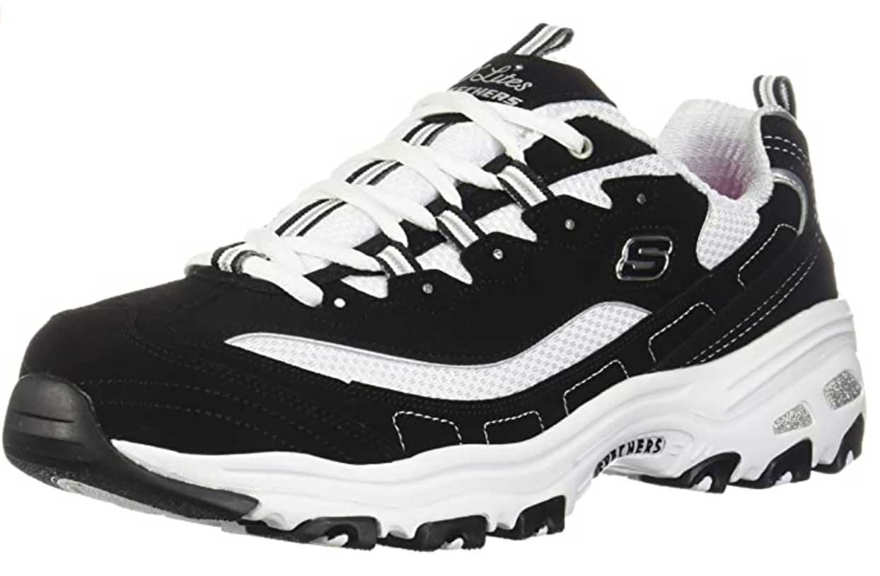 Skechers Sport womens D'lites Biggest Fan running sneaker with memory foam