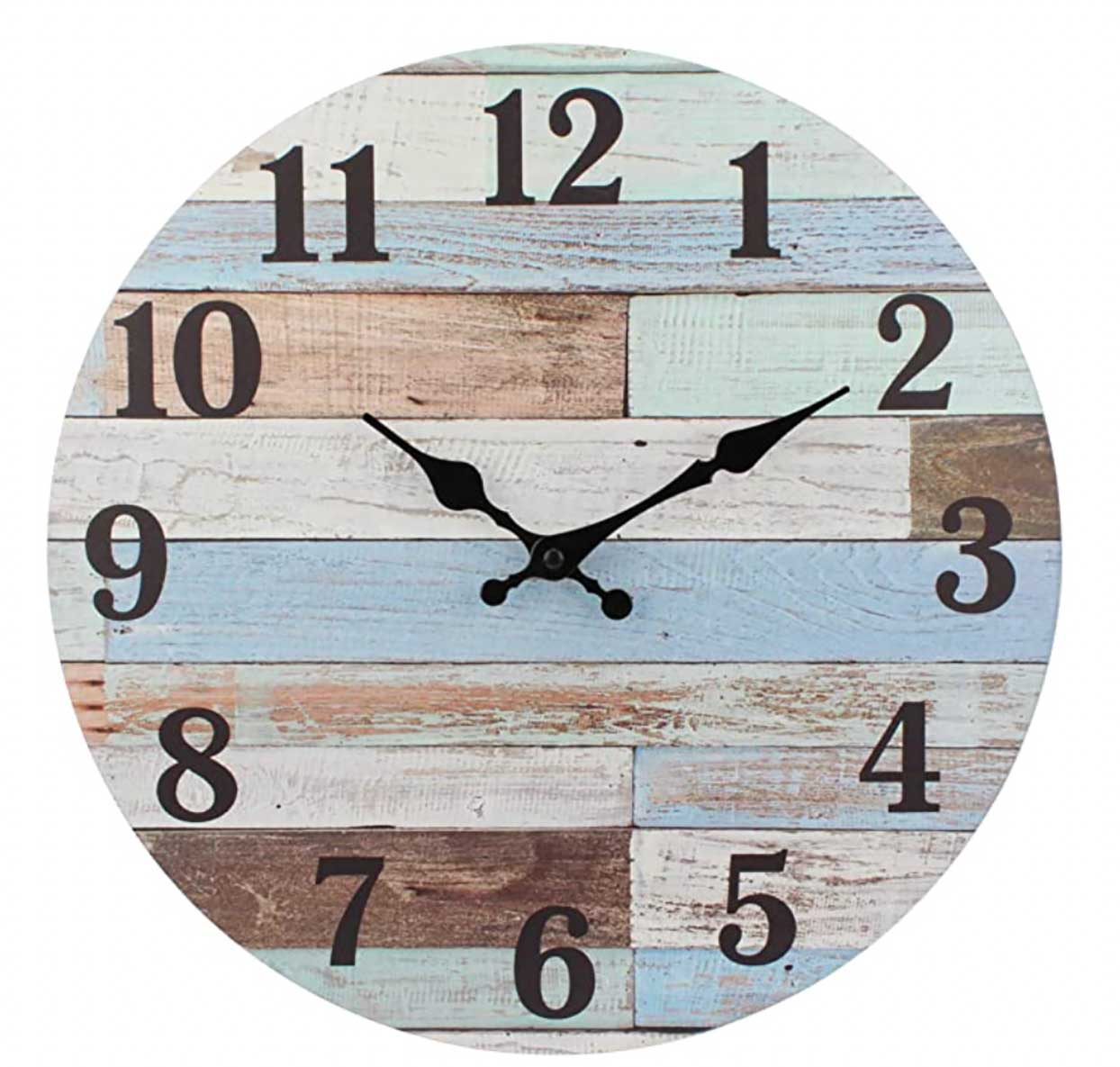 Stonebriar Vintage, Multicolor Battery Operated Wall Clock