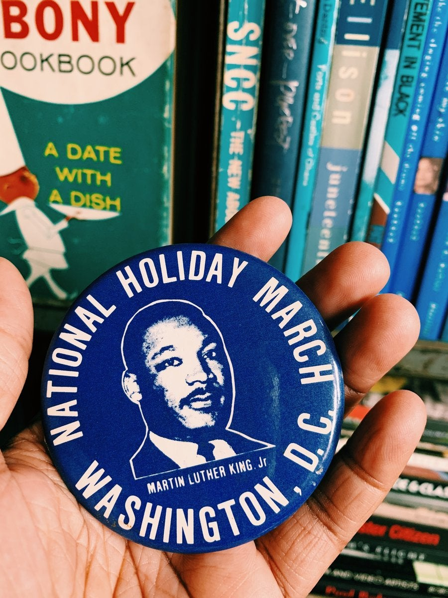 Vintage Dr. Martin Luther King Jr. National Holiday Pin (Washington D.C. March in 1981)