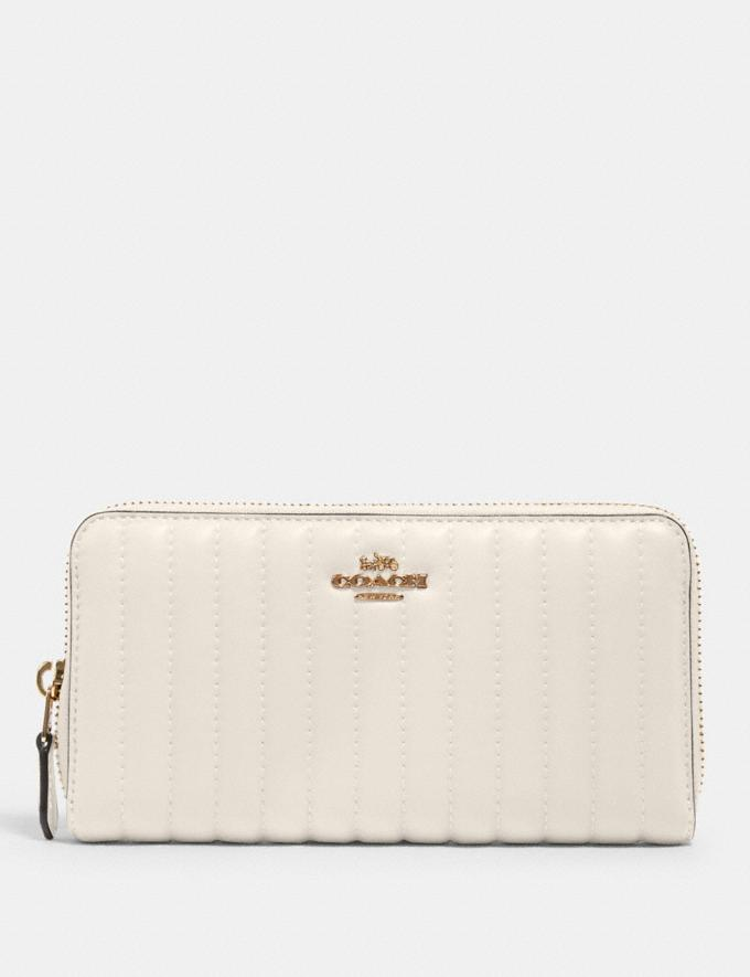 Coach Accordion Zip Wallet With Quilting