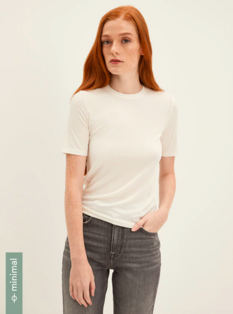Frank And Oak Soft Ribbed T-Shirt in White