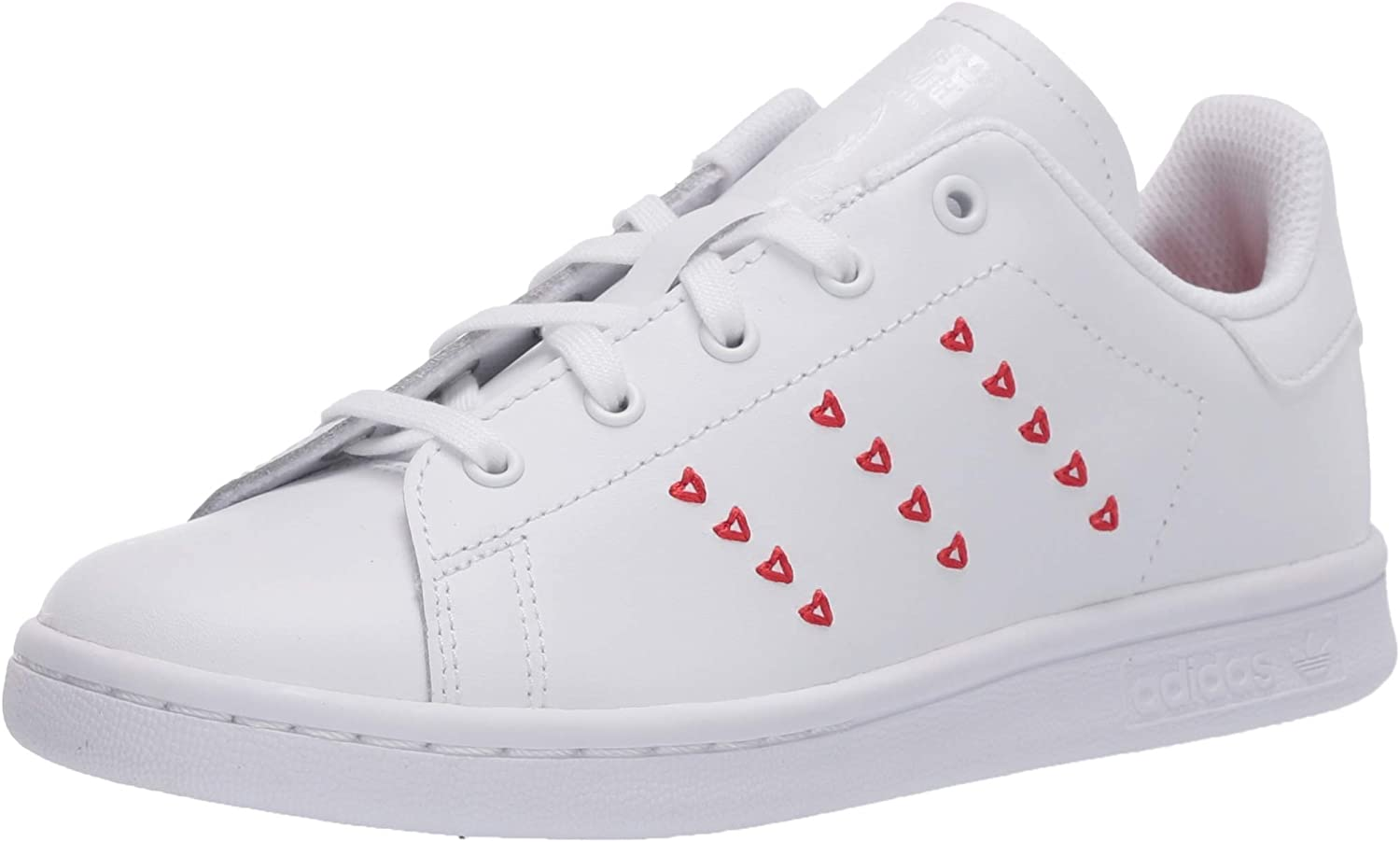 Adidas Originals Child Stan Smith Sneaker with hearts