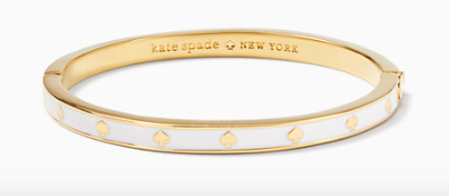 Kate Spade New York Spot the Spade Enamel Hinged Bangle