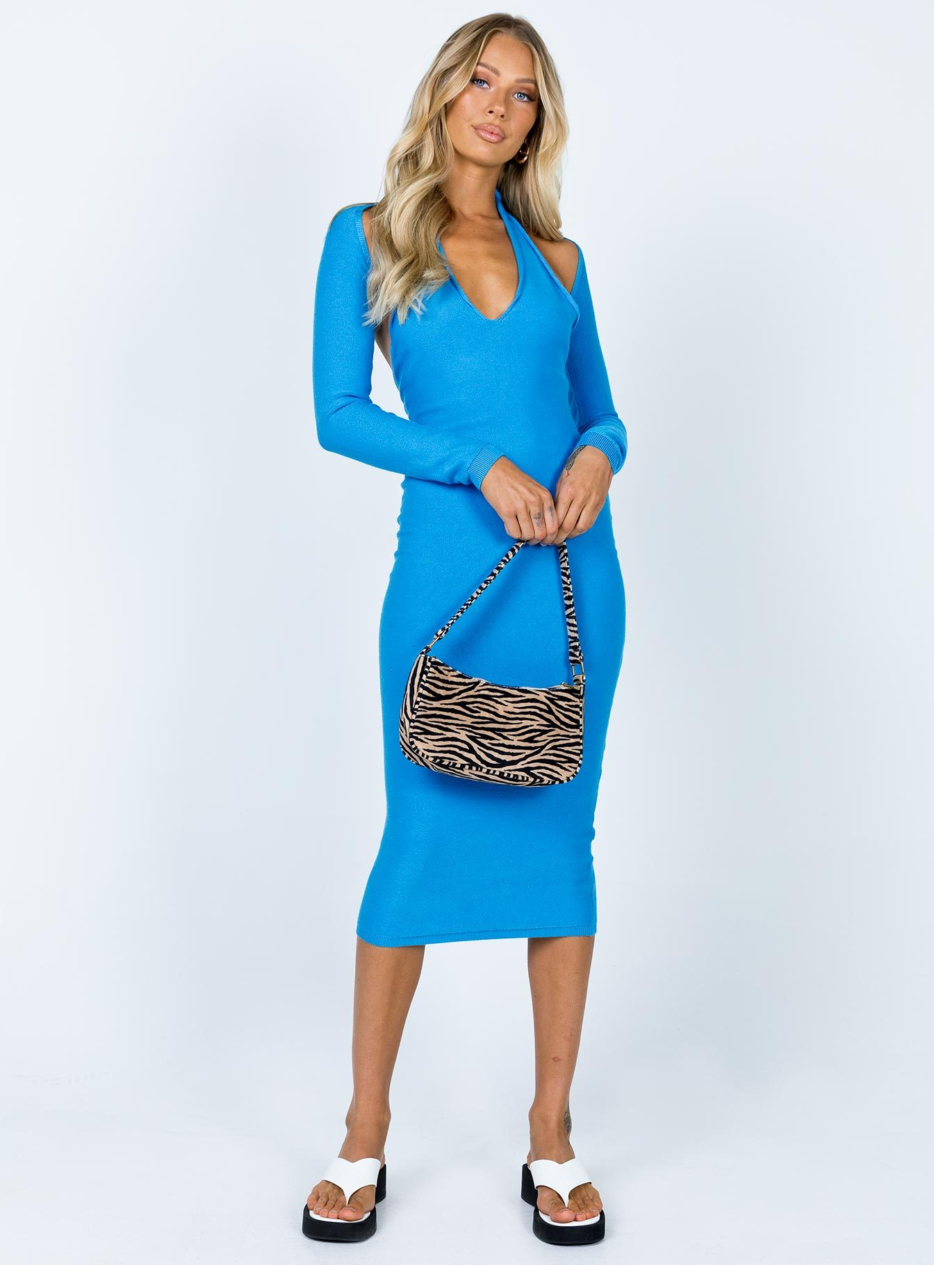 Lioness Heavenly Sent Midi Dress Blue