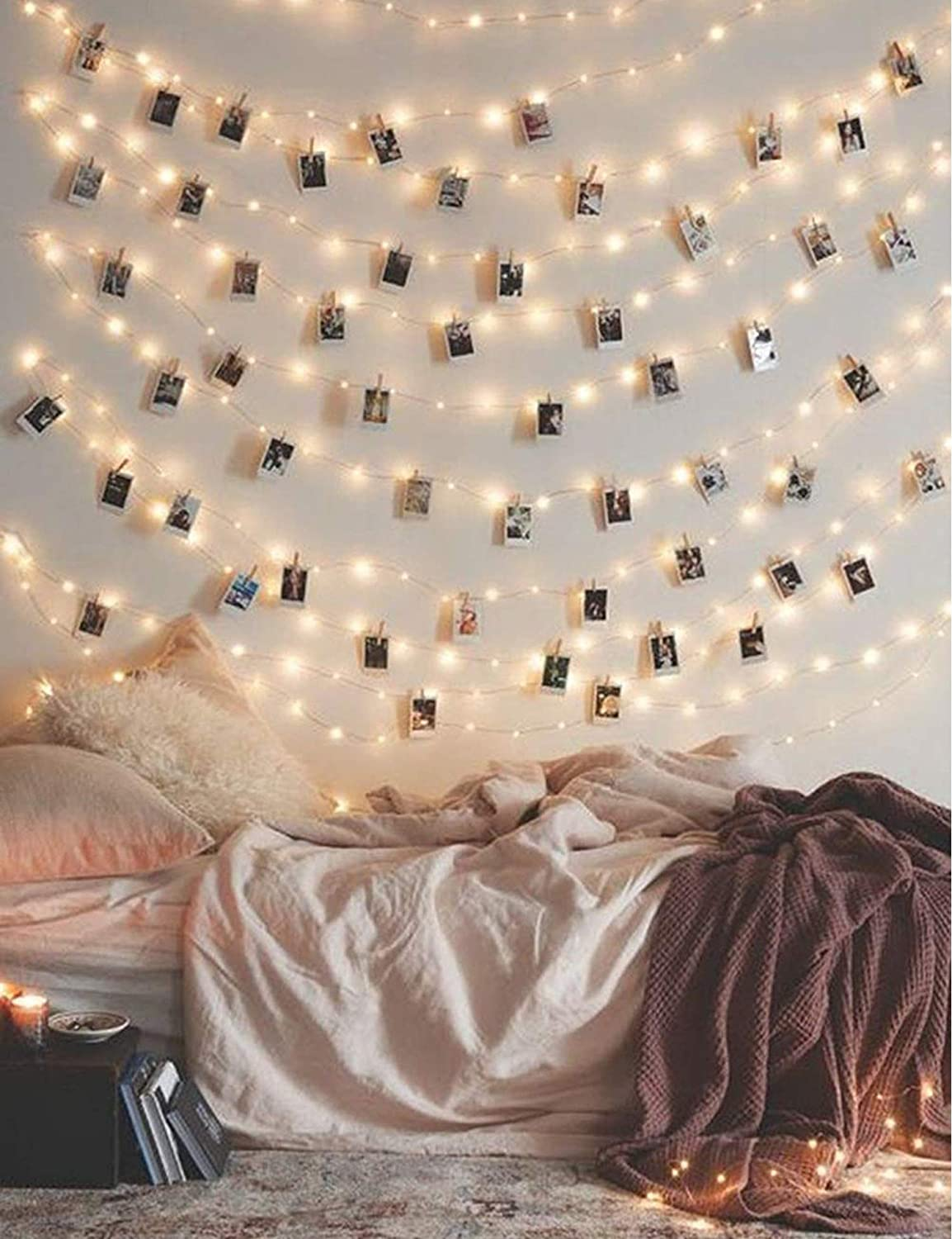 Fairy String Lights with 50 Clear Clips