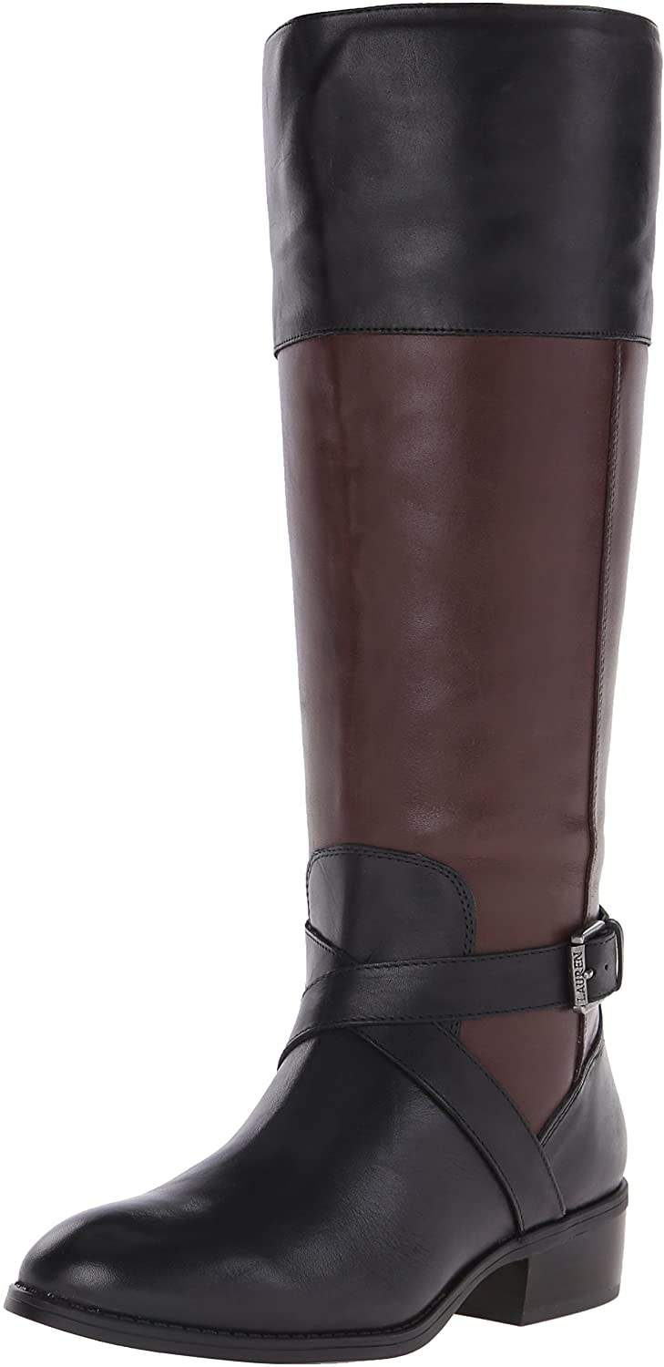 RALPH LAUREN Women's Maryann Wide-Calf Riding Boot
