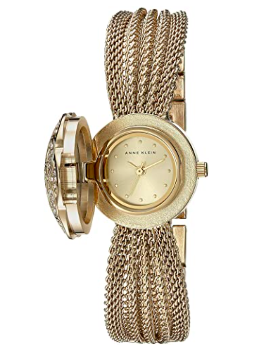 Anne Klein Swarovski Crystal Accented Bracelet Watch