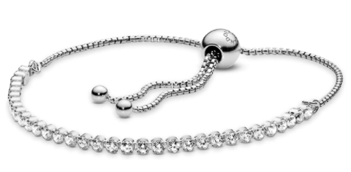 PANDORA Jewelry Sparkling Slider Tennis Bracelet in Sterling Silver