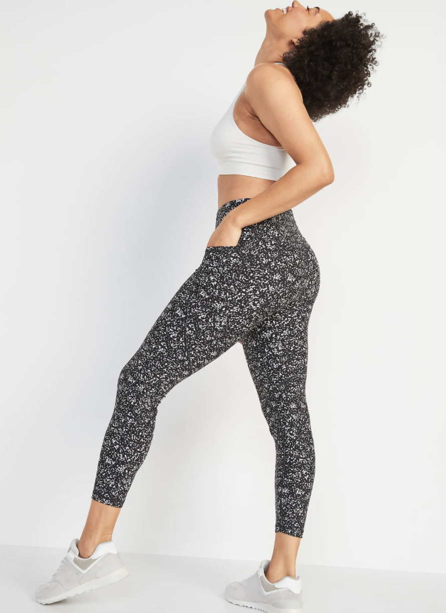 High-Waisted Elevate Powersoft 7/8-Length Side-Pocket Leggings
