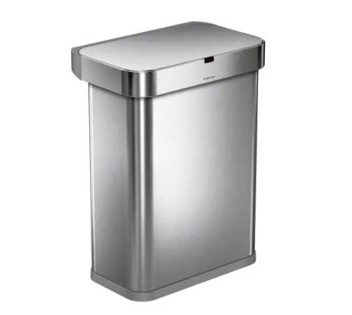 Simplehuman Voice And Motion Sensor Garbage Can, 15.3 Gallons