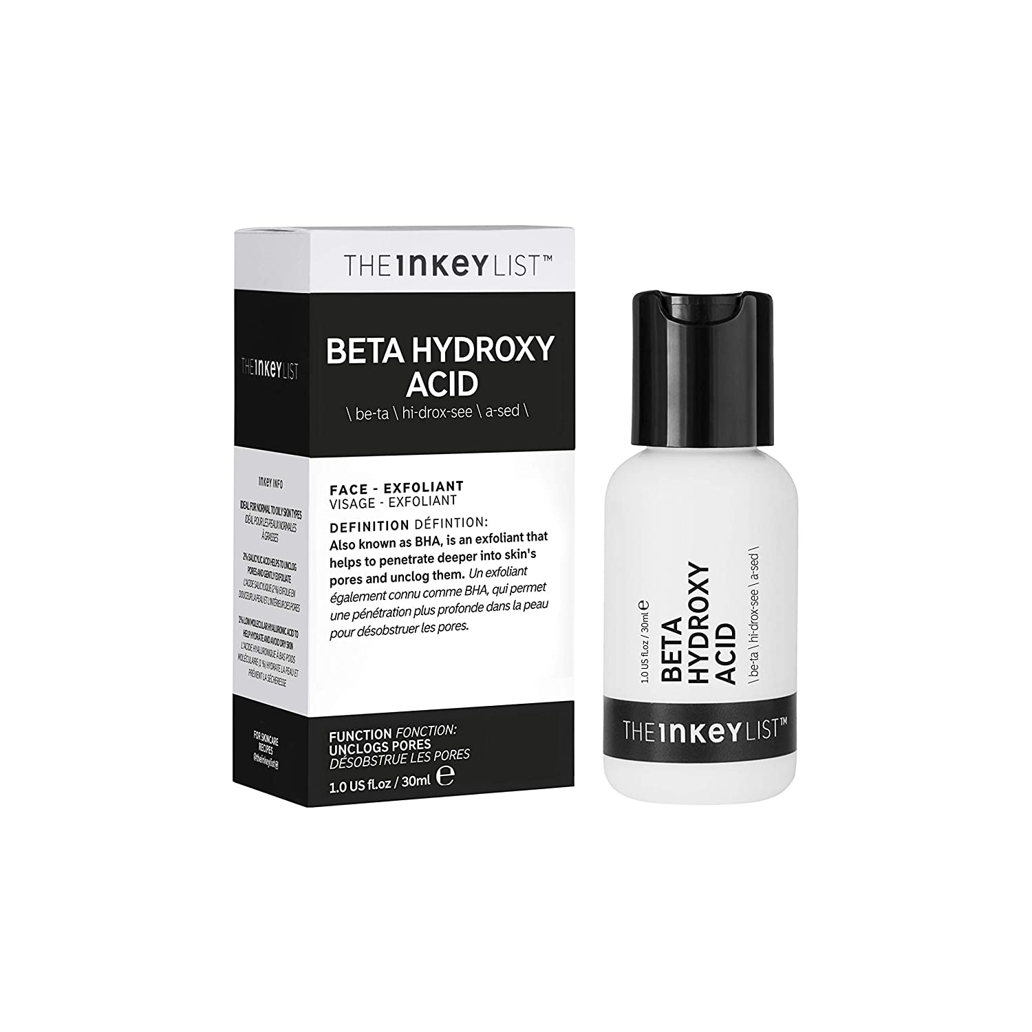 The Inkey List Beta Hydroxy Acid Face Exfoliant
