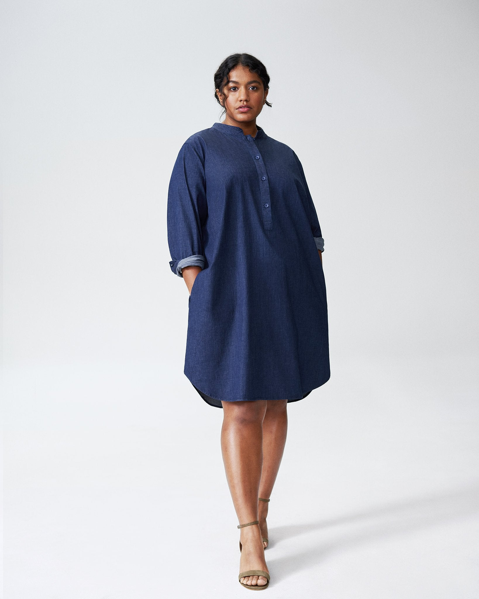 Universal Standard Hannah Denim Shirt Dress