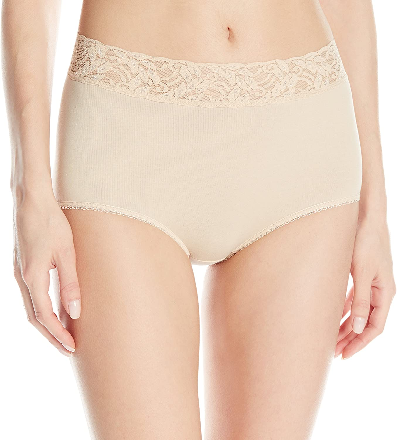 Wacoal Women's New Cotton Suede Full Brief Panty