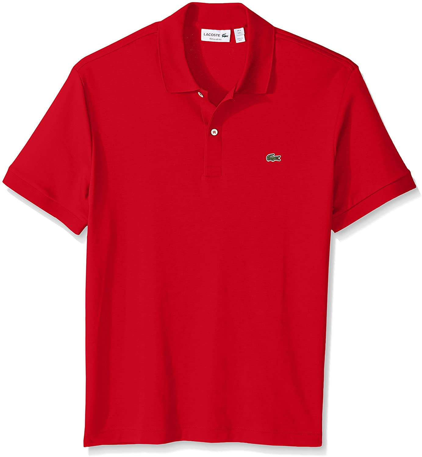 Lacoste Mens Short Sleeve Pima Jersey Interlock Regular Fit Polo Shirt