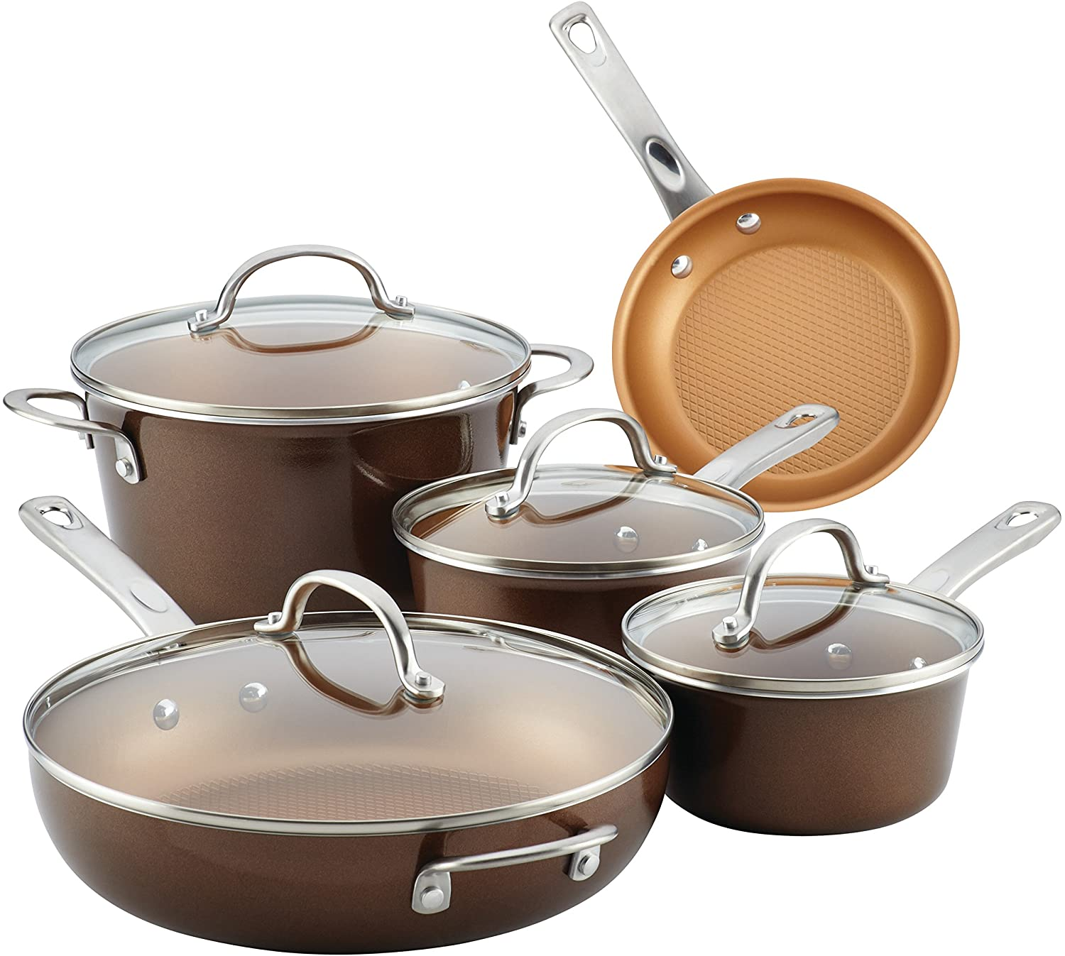 Ayesha Curry Home Collection Nonstick Cookware Pots and Pans Set
