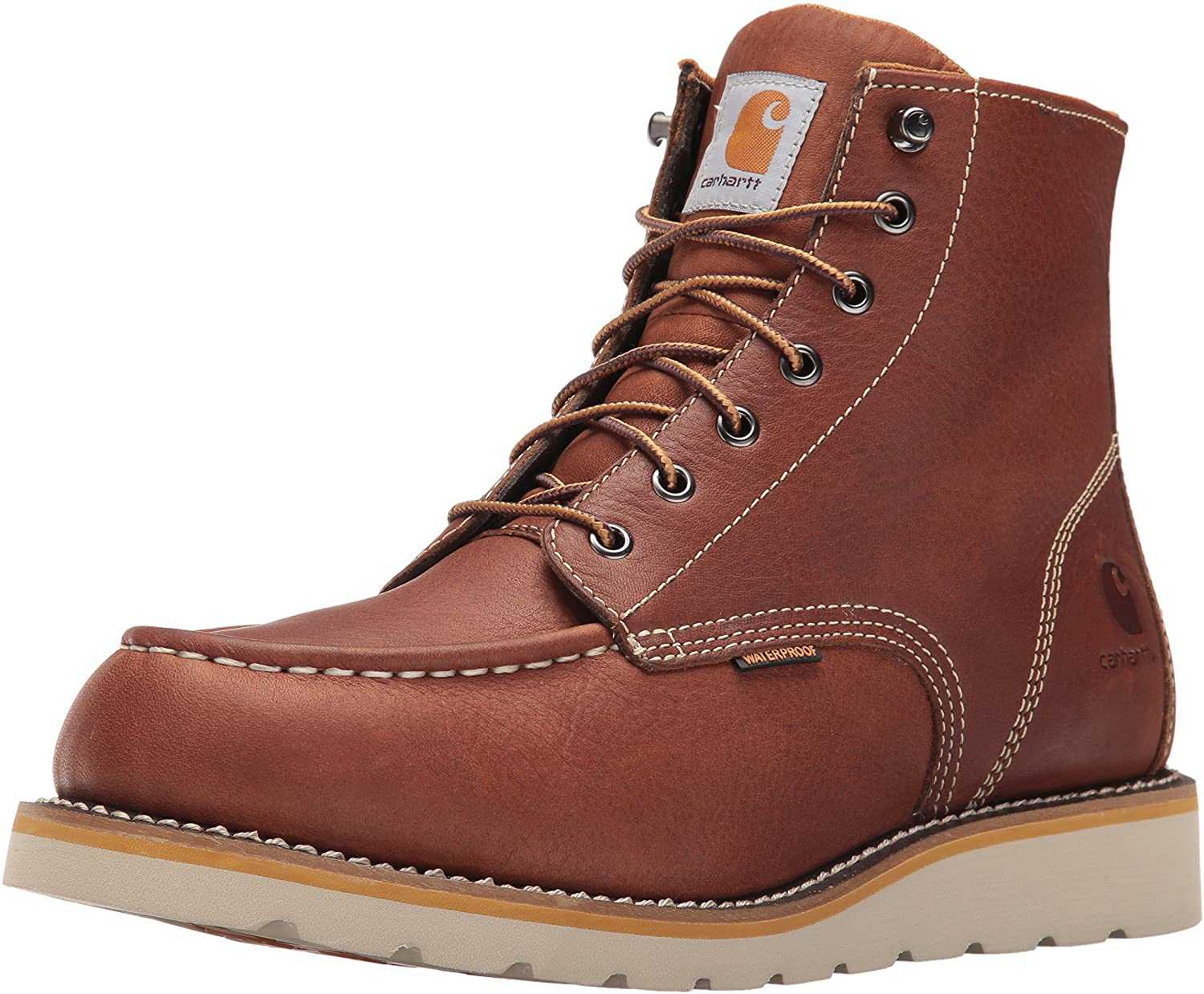Carhartt Men's 6 Inch Waterproof Wedge Soft Toe Work Boot