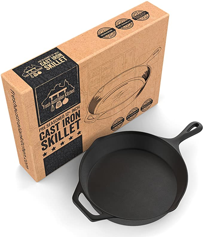 Fresh Australian Kitchen Pre-Seasoned Cast Iron Skillet