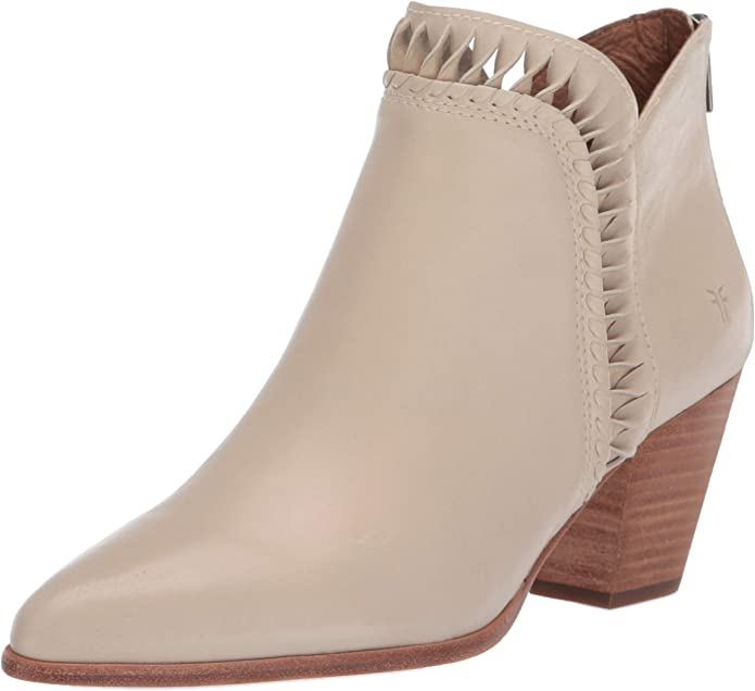 Frye Women's Reed Feather Inside Zip Bootie Ankle Boot