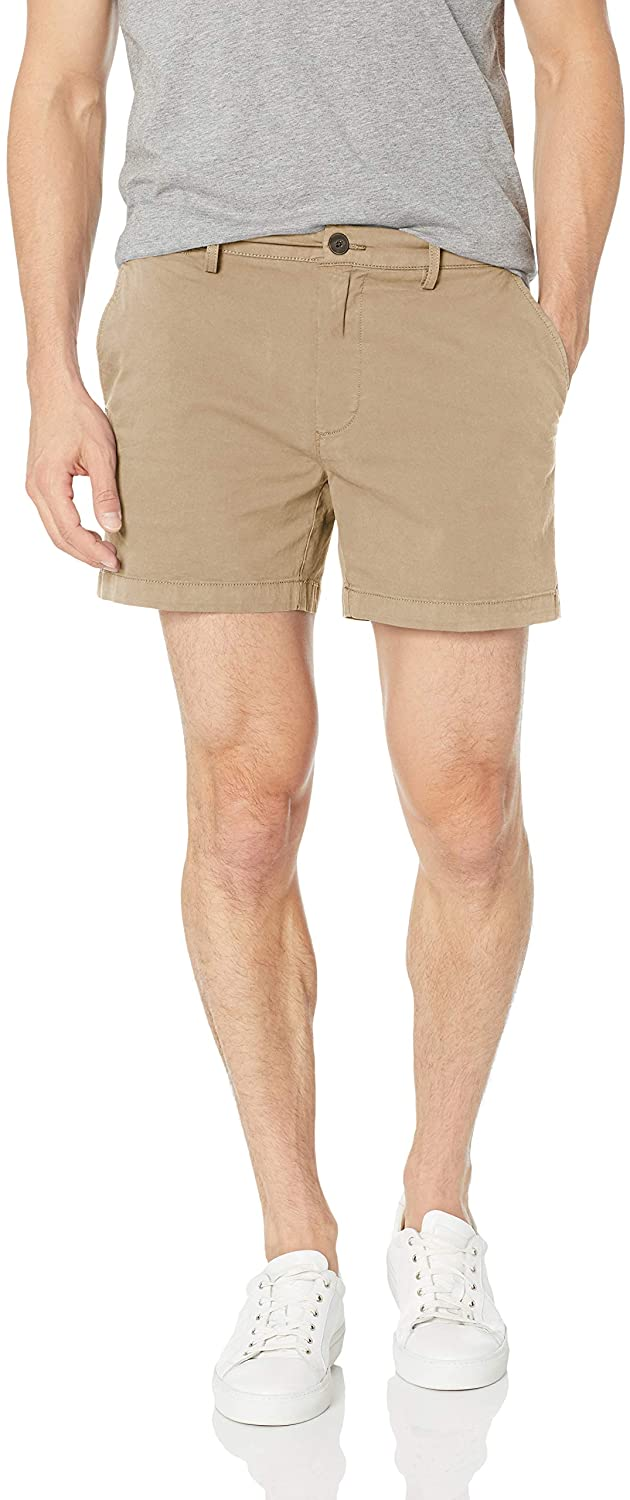 Goodthreads Flat-Front Comfort Stretch Chino Shorts