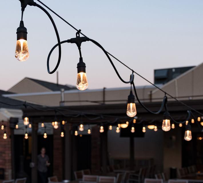 Pottery Barn Indoor/Outdoor LED String Lights - Black