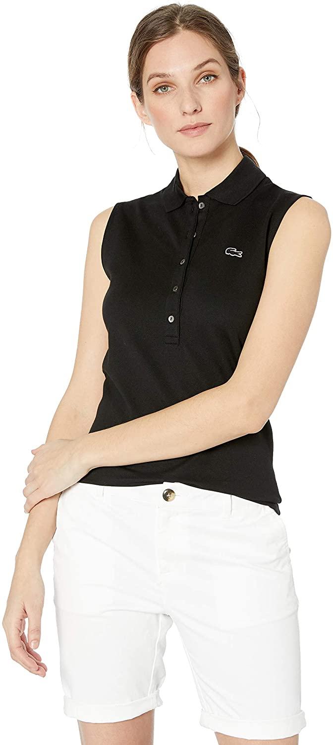 Lacoste Women's Sleeveless Slim Fit Classic Polo