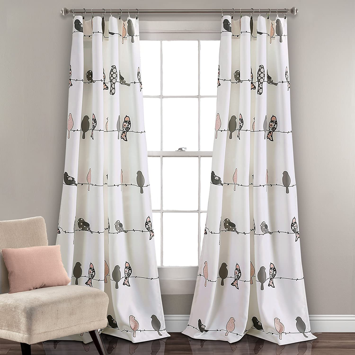 Lush Decor Rowley Birds Curtains