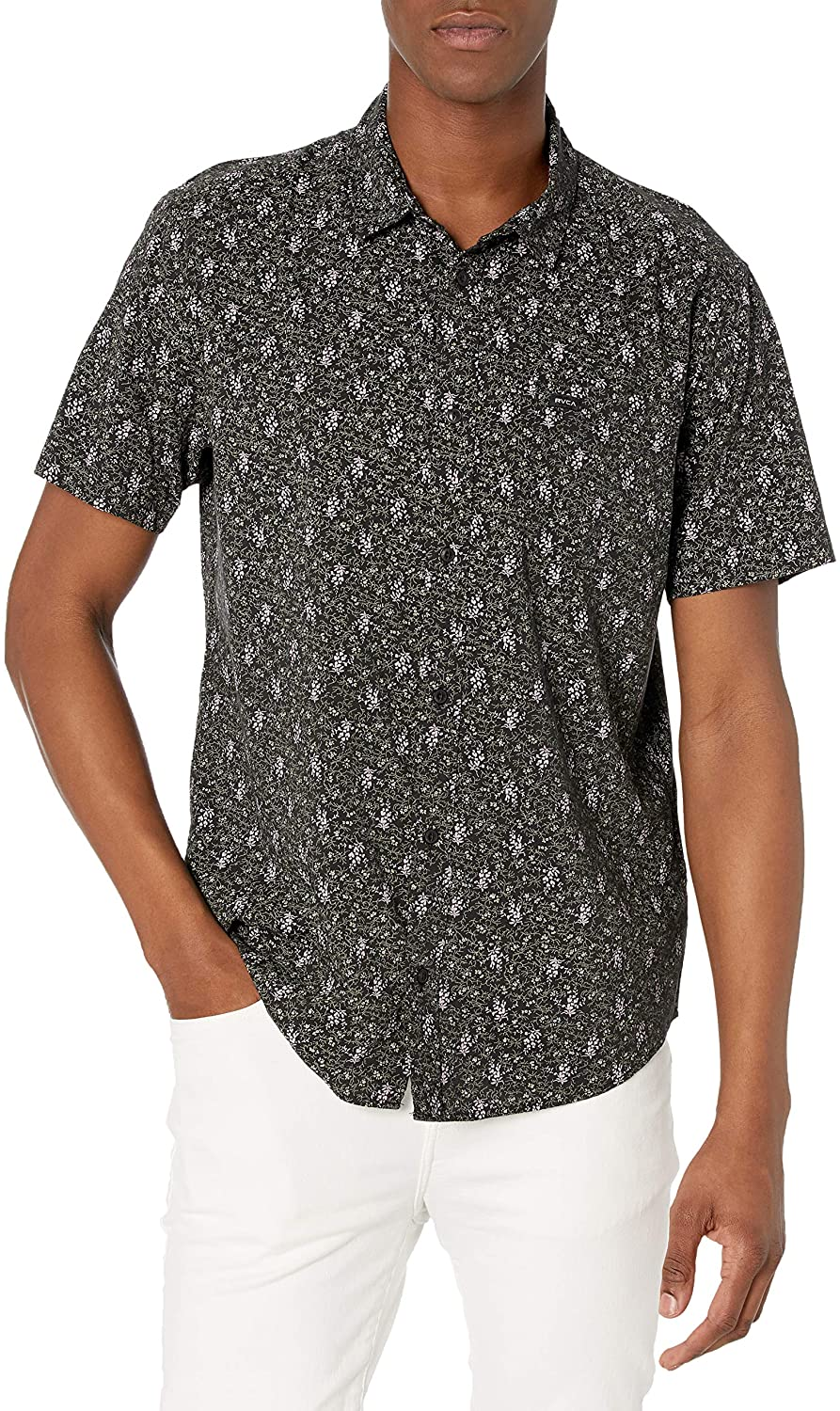 RVCA Monkberry Floral Short Sleeve Shirt