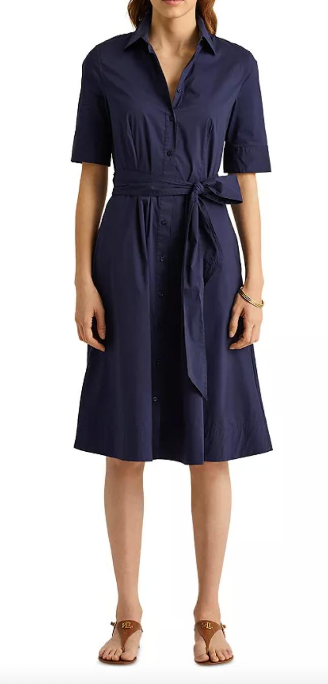 Lauren Ralph Lauren Belted Shirtdress