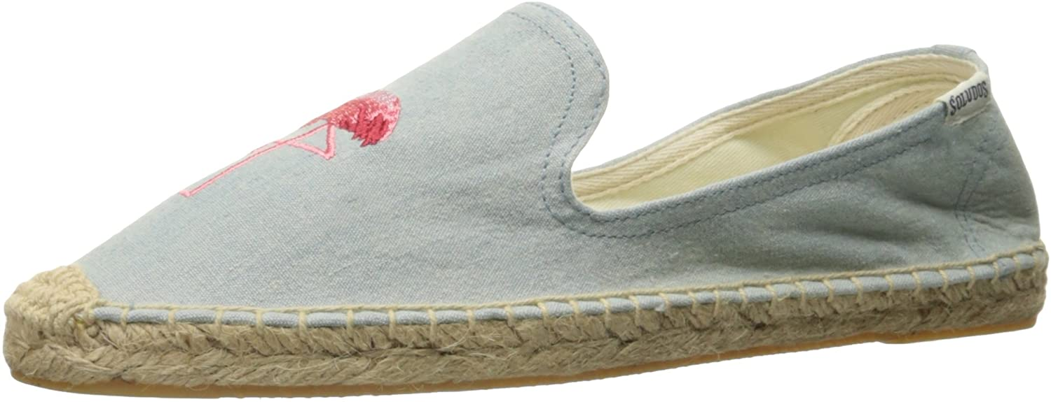 Soludos Flamingo Smoking Slipper Chambray