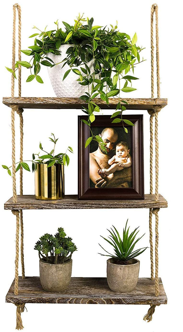 TIMEYARD Decorative Wall Hanging Shelf