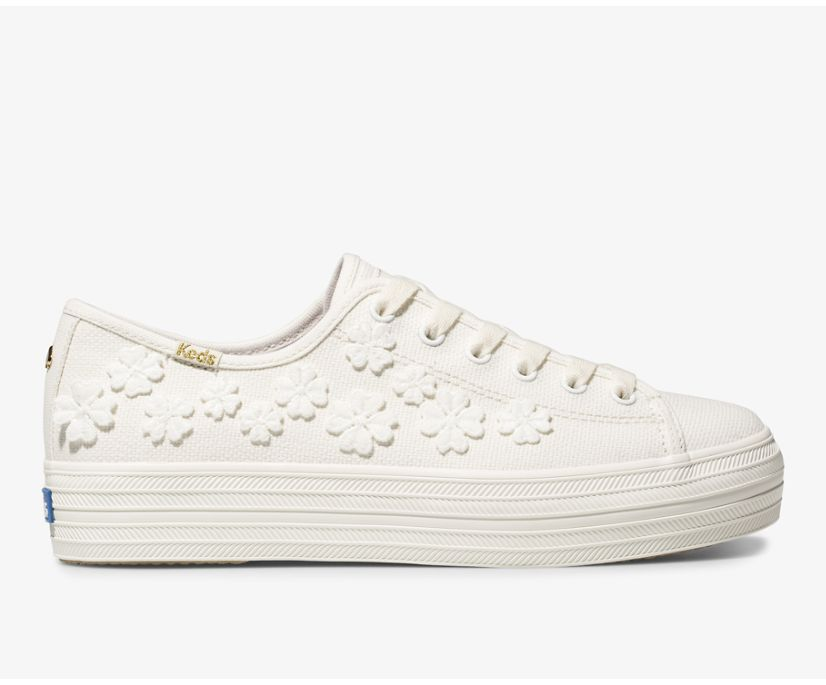 Women's Keds x kate spade new york Triple Kick Woven Flowers
