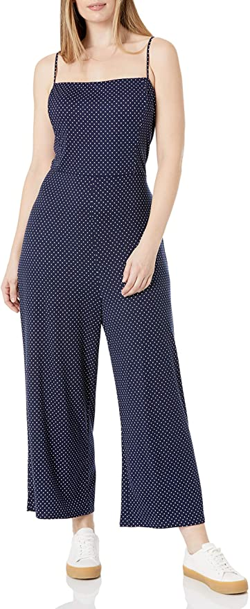 Wild Meadow Sleeveless Low Tie Back Detail Wide Leg Knit Jumpsuit