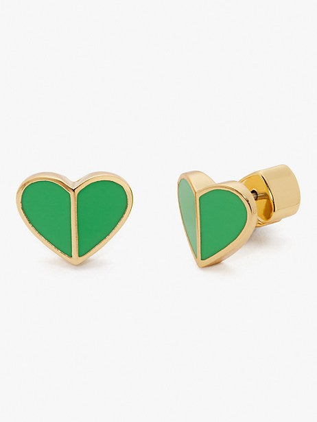 Kate Spade New York Heritage Spade Small Heart Stud Earrings