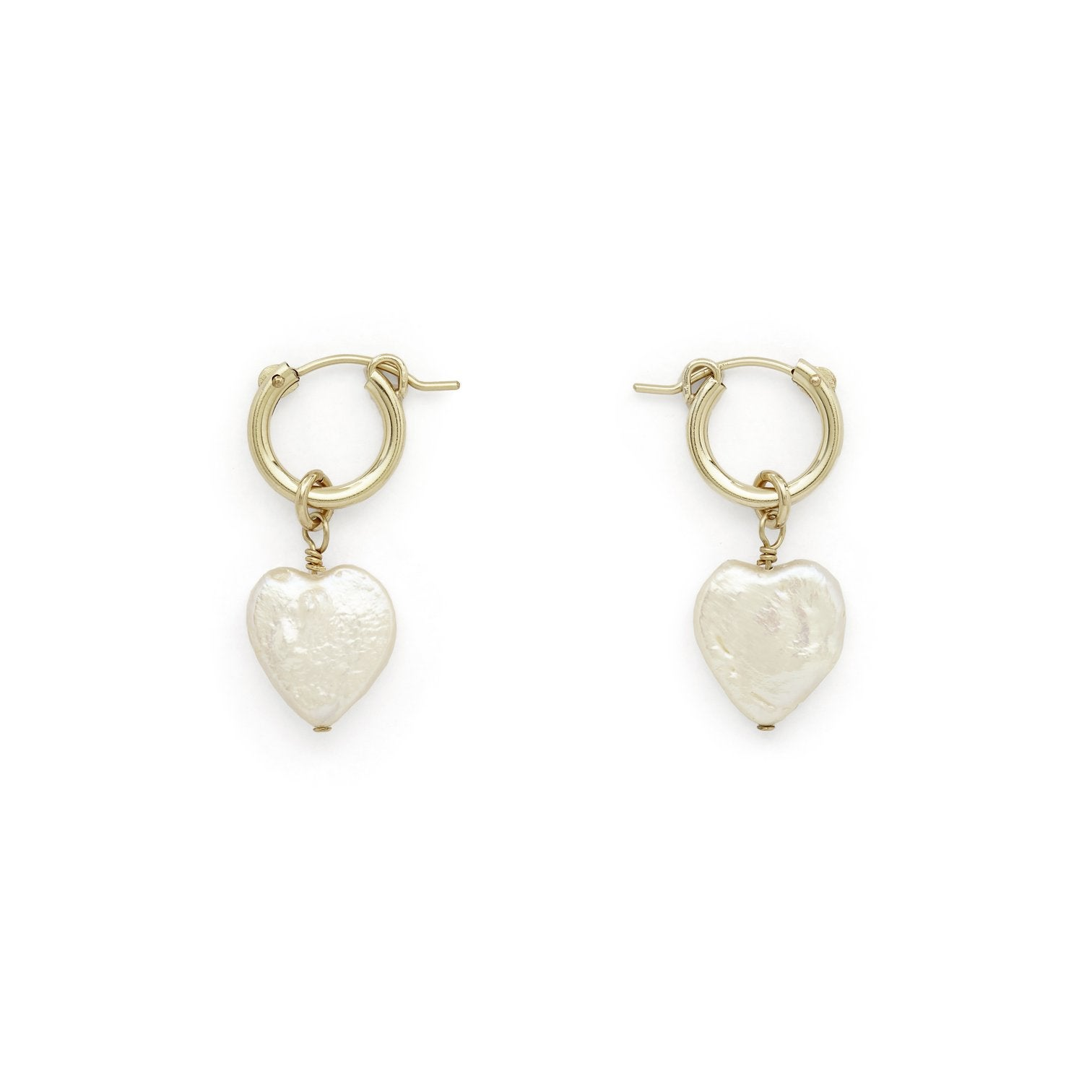 Stella and Bow Eleanor pearl heart hoops