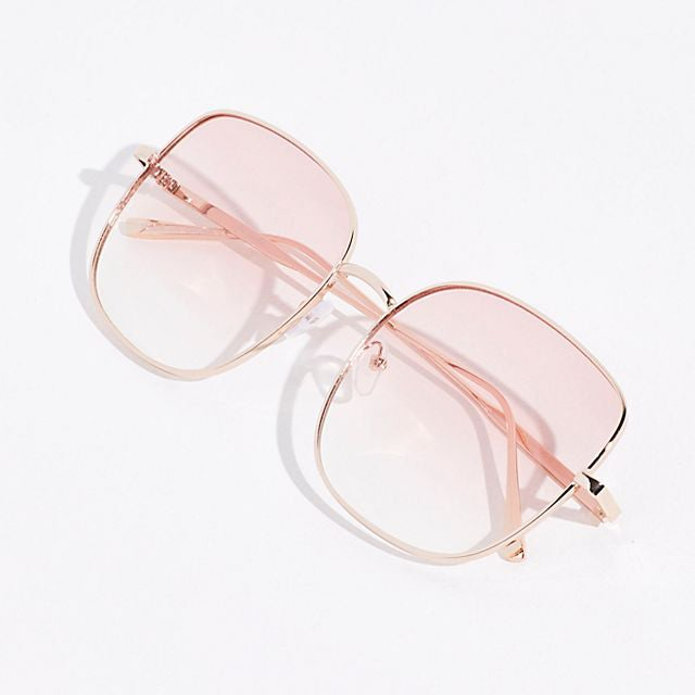 Free People Mellow Metal Square Sunglasses