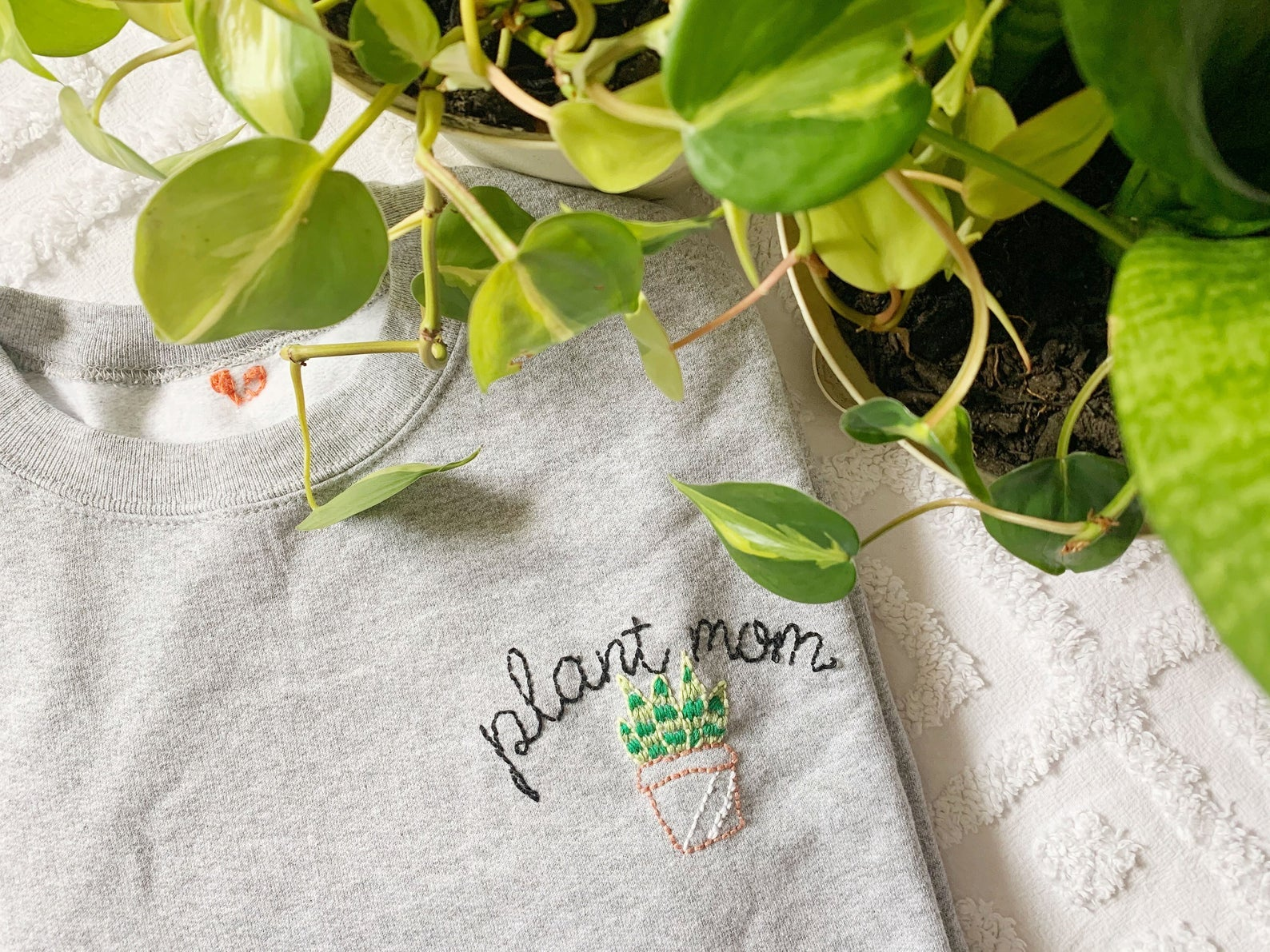Shop The Stitchuation Plant Mom Custom Embroidered T-Shirt