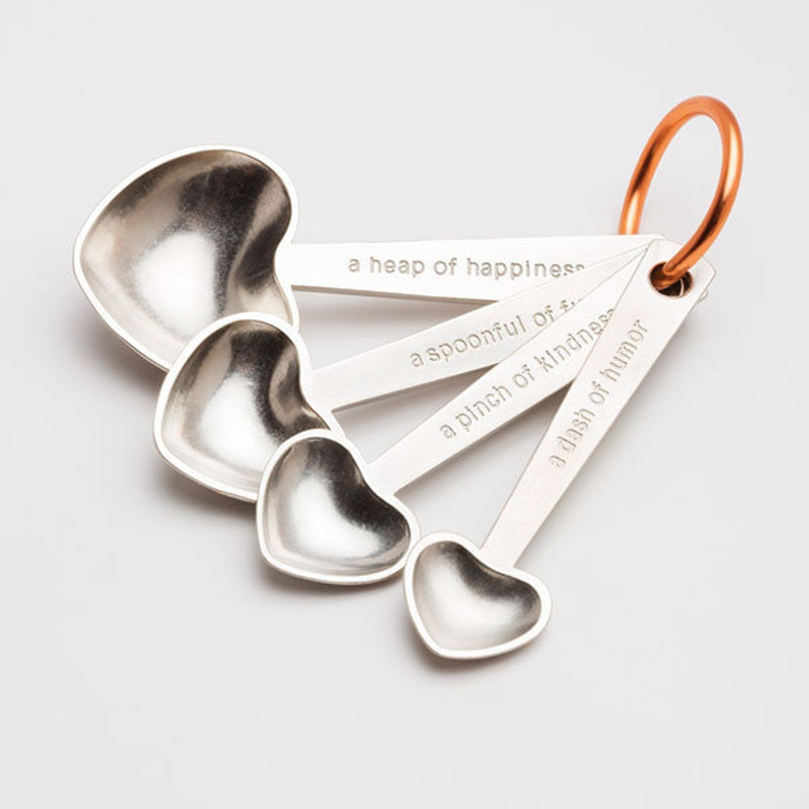 Beehive Handmade Heart Quotes Measuring Spoons