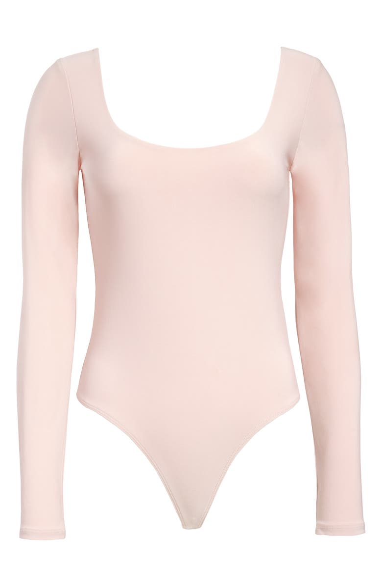 Leith Double Scoop Long Sleeve Thong Bodysuit
